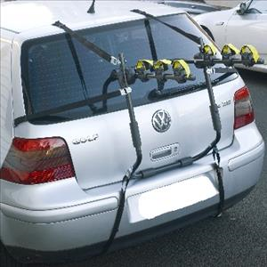 VW Golf With Attached Strap On Rack