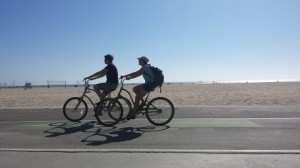 two-people-ride-bikes